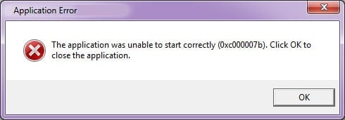 0xc000007b Application Error