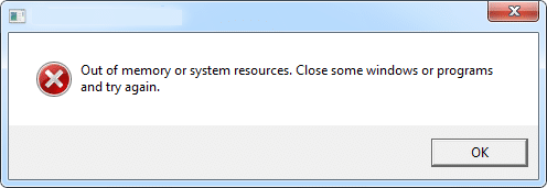 Out of Memory error fix
