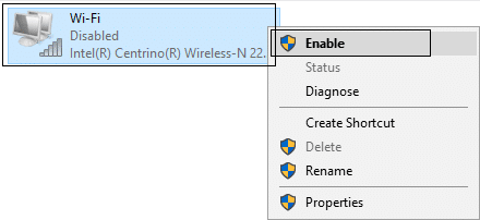 Enable the Wifi to reassign the ip