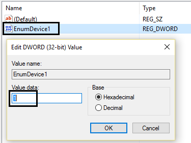 EnumDevice1 value from 0 to 1