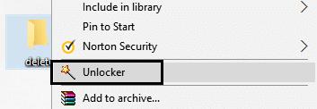 Unlocker in right click context menu