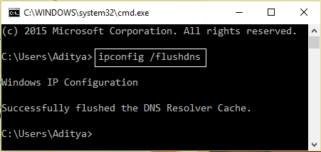 ipconfig flushdns   Fix Site Can't Be Reached, Server IP Could Not Be Found