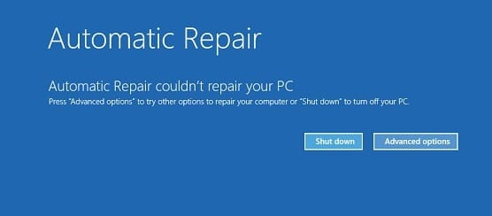 How to fix Automatic Repair couldn't repair your PC