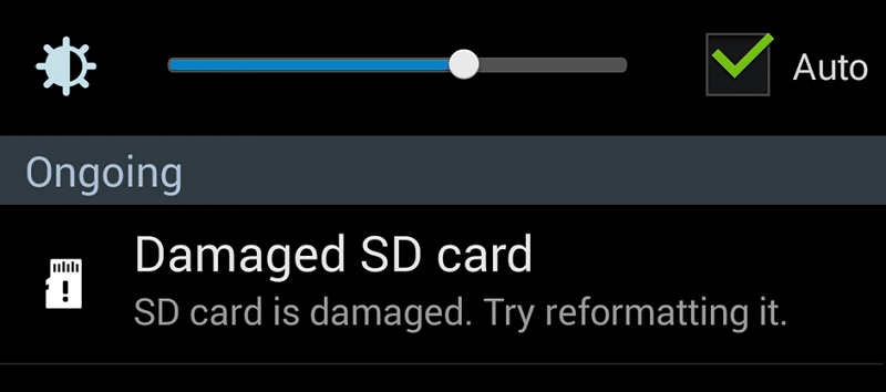 How to repair damaged SD card