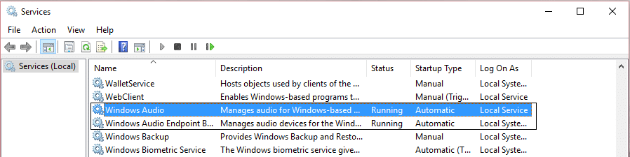 Windows audio and windows audio endpoint