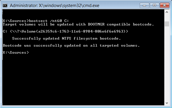 bootsect nt60 c