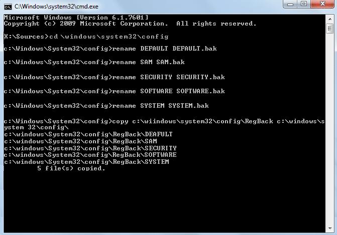 recover registry regback copied