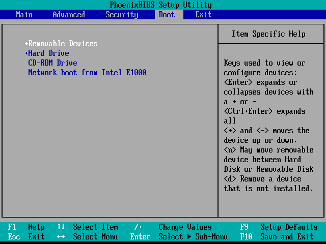 Locate and Navigate to the Boot Order Options in BIOS