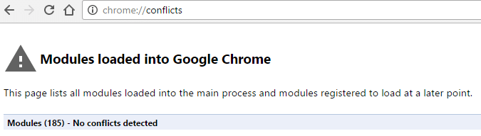 Chrome conflicts window