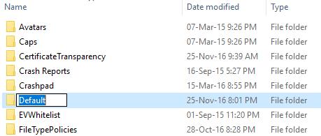 Rename the default folder of chrome