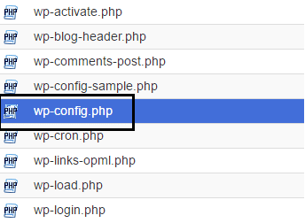 Wp-config php file