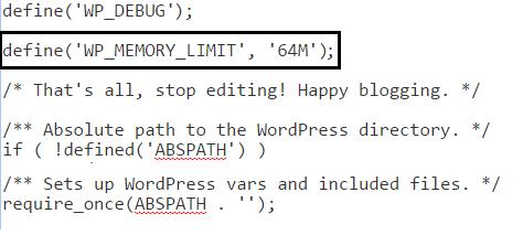increase php memory limit to fix wordpress http IMAGE error