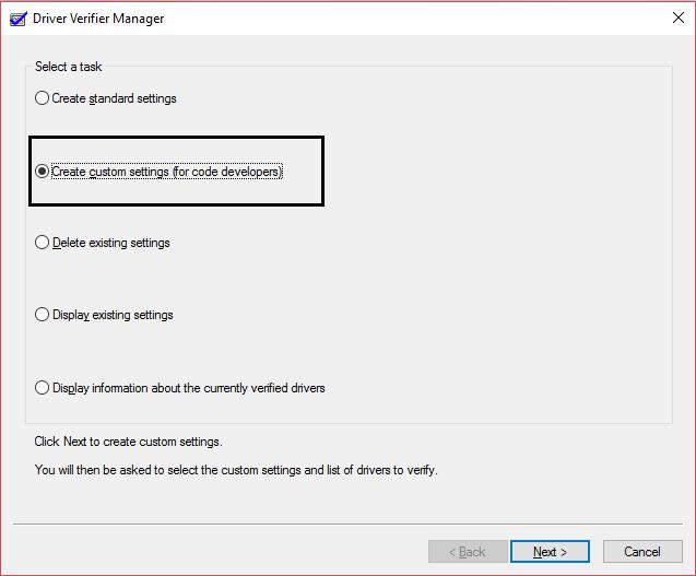 run driver verifier manager