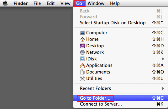 From FINDER, go to the GO menu and then Select 'Go to folder.'