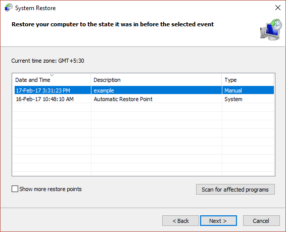 Undo the changes To fix error code 43