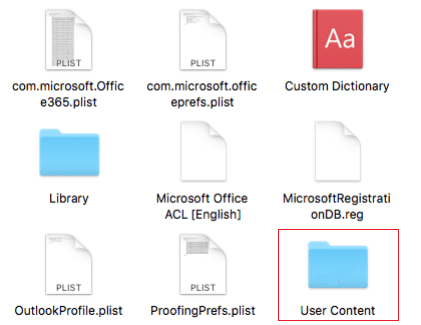 user content folder