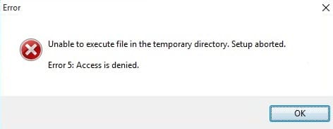 Fix Unable To Execute Files In The Temporary Directory