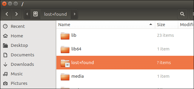 How to Restore files from lost+found