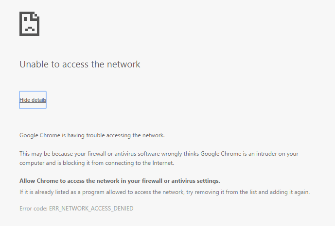 Fix Unable To Access Network In Chrome (ERR_NETWORK_CHANGED)