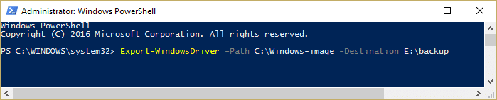 Extract drivers from Windows source image Export-WindowsDriver -Path Windows-image -Destination backup