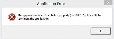 Fix The application failed to initialize properly
