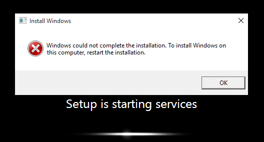 Fix Windows Could Not Complete The Installation. To Install Windows On This Computer, Restart The Installation