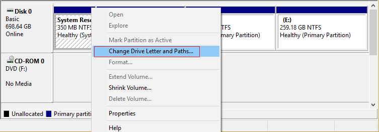 change drive letter and paths
