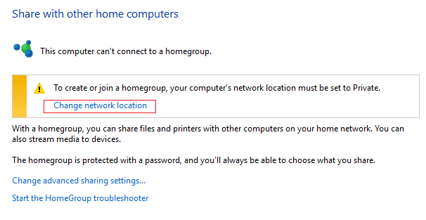 click Change network location | WiFi keeps disconnecting in Windows 10