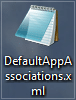 default app association .xml file on your desktop