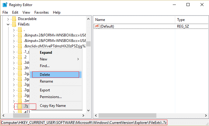 delete the file extension from the registry in order to un-associate them