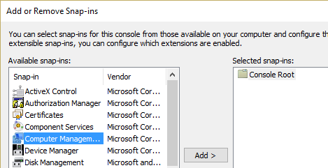 double click on Computer Management