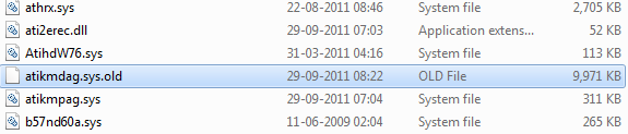 rename atikmdag.sys to atikmdag.sys.old