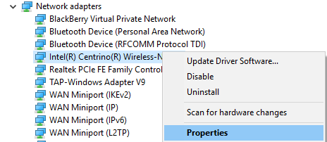 right click on your network adapter and select properties
