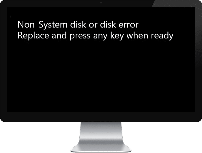 Fix Non-System Disk or Disk Error Message on Boot