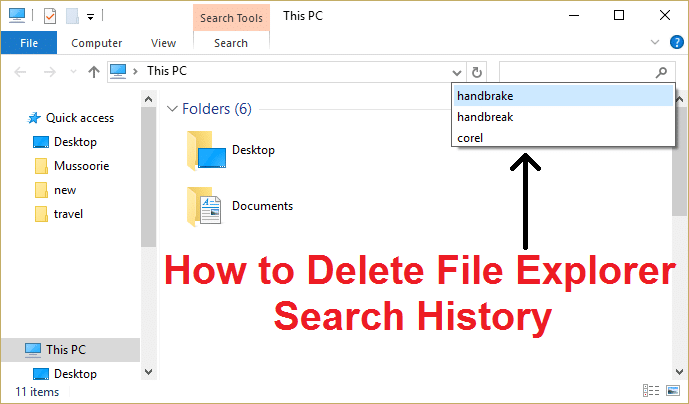 How to Delete File Explorer Search History