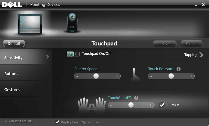 Make sure Touchpad is enable