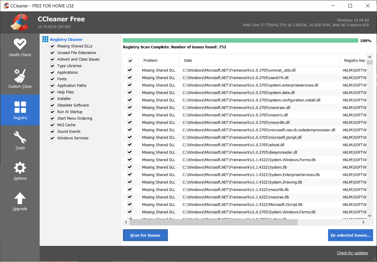 Once scan for issues is completed click on Fix selected Issues | This file does not have a program associated with it for performing this action [SOLVED]