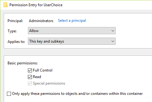 Change the value to specified and click OK