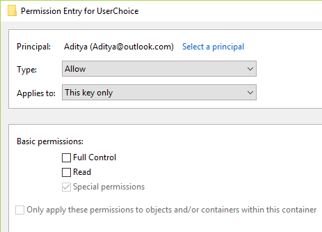 If the Local Account is not configured as above then double click on it and change the values according to the above configuration