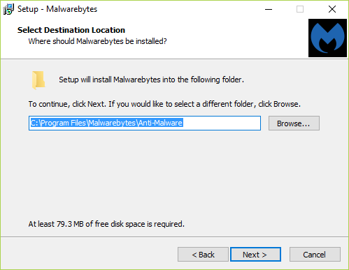 If you want to change the default installation location of the program then click Browse, if not then simply click Next