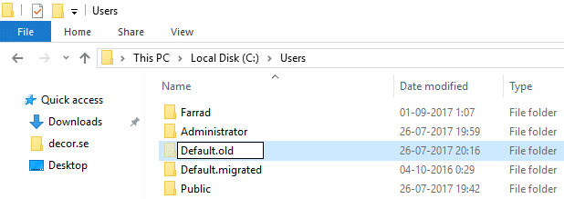 Login to the PC having issues then under C:\Users rename the Default folder to Default.old.