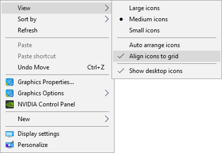 Uncheck Align icon to grid