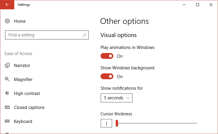 From Show notifications for dropdown select 5 seconds or 7 seconds