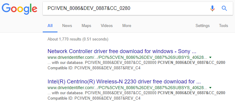 Now in the value section, copy the last value and paste it in Google Search