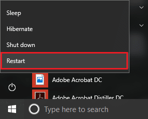 Now press & hold the shift key on the keyboard and click on Restart