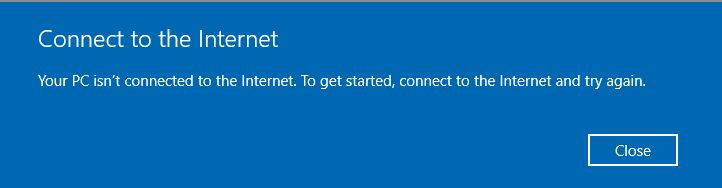 Fix Your PC isn't connected to the internet error