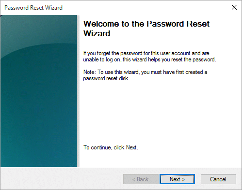 Welcome to Password Reset Wizard on login Screen