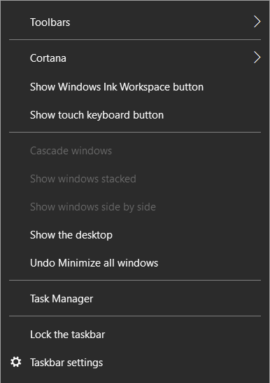 How to disable the Task View Button in Windows 10