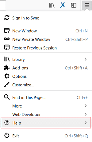 Click on the three lines on the top right corner then select Help