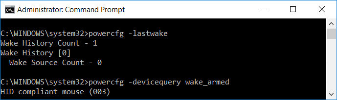 list devices that are able to wake up the computer